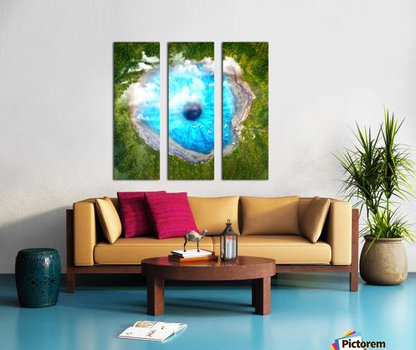 Dream Art XX Surreal Eye Lake Split Canvas print