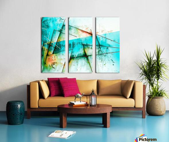 ABSTRACT ART BRITTO QB300B Split Canvas print