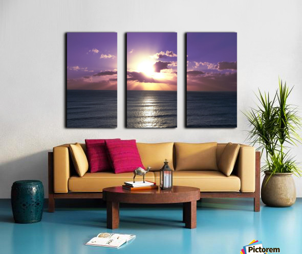 Tranquility - Relaxing Sunset over the Pacific Split Canvas print