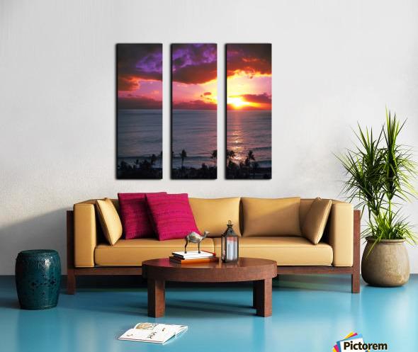 Serenity - Perfect Bliss - Sunset Split Canvas print