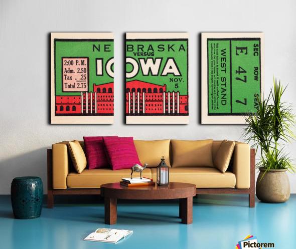 1932 Iowa Hawkeyes vs. Nebraska Cornhuskers Split Canvas print