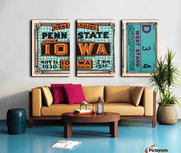 1930 Iowa vs. Penn State Split Canvas print