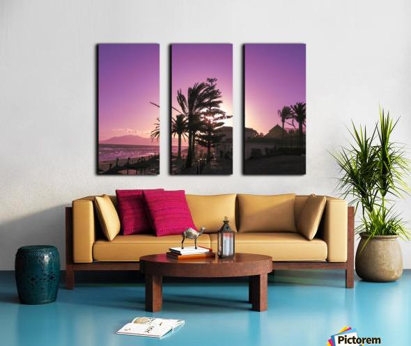 Sunset Costa Del Sol Spain Split Canvas print