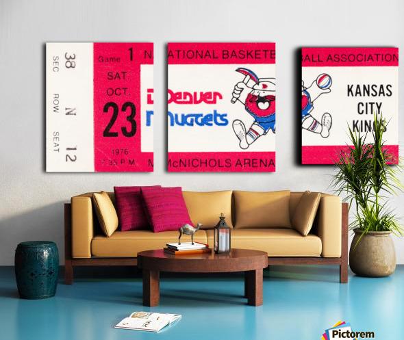 1976 Denver Nuggets First NBA Home Game Split Canvas print