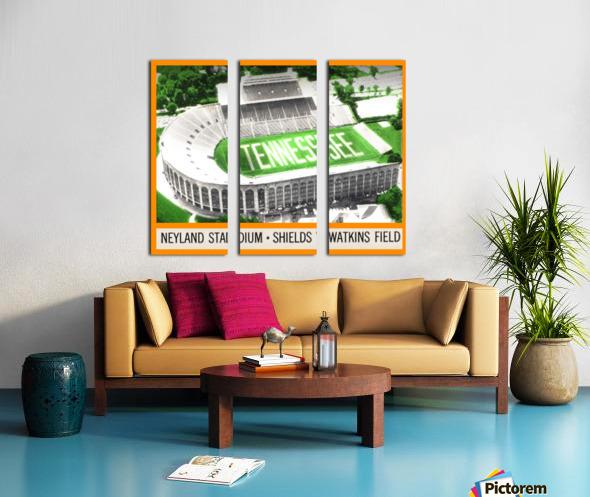 1964 Tennessee Vols Football Ticket Stub Remix Split Canvas print