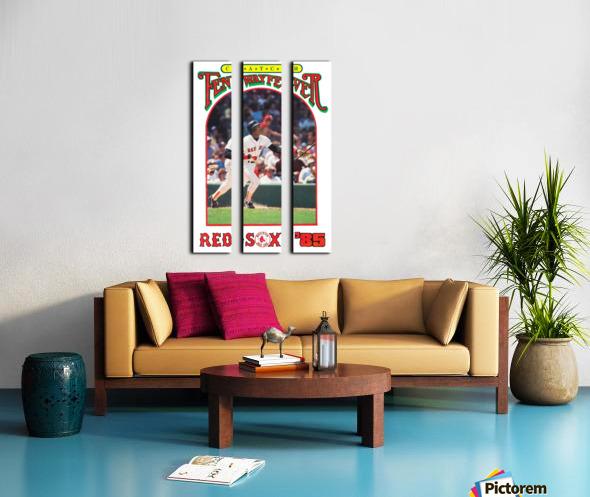 1985 Boston Red Sox Retro Poster Split Canvas print