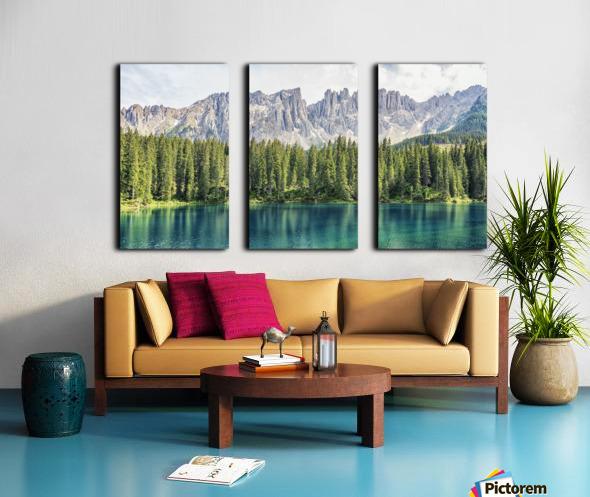 Turquoise Lake Split Canvas print