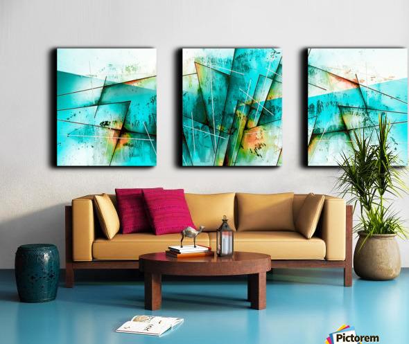 ABSTRACT ART BRITTO QB300 Split Canvas print