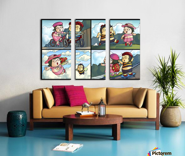 Best Friends at Play   4 panel Favorites for Kids Room and Nursery   Bugville Critters Split Canvas print