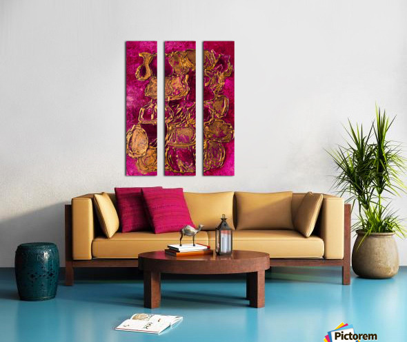 JARS - Original Abstract Acrylic Paint Printed on Canvas by: Rebecca Mangalindan Split Canvas print