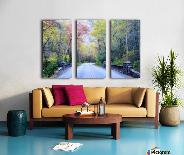Colorful Fall Evening Split Canvas print