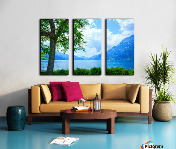 Snapshot in Time Walensee - Lake Walen Switzerland 3 of 3 Split Canvas print