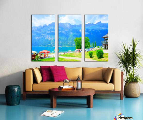 Snapshot in Time Walensee - Lake Walen Switzerland 1 of 3 Split Canvas print