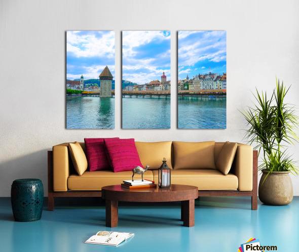Chapel Bridge   Lucerne Switzerland Split Canvas print