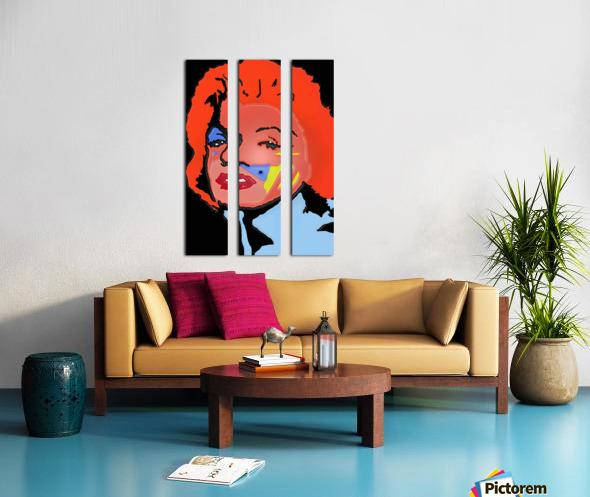 Marilyn in full color Split Canvas print