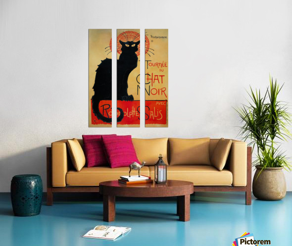 Theophile Steinlen - Tournee du Chat Noir Split Canvas print