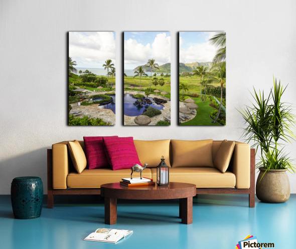 Welcome to Paradise   Kauai Hawaii Split Canvas print