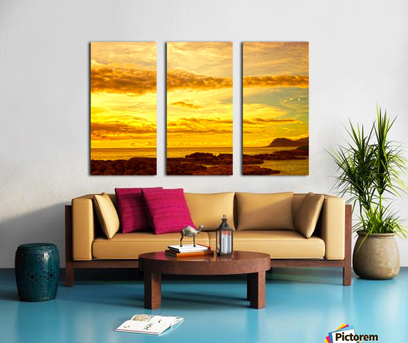 Sunset in Paradise   South Seas Split Canvas print