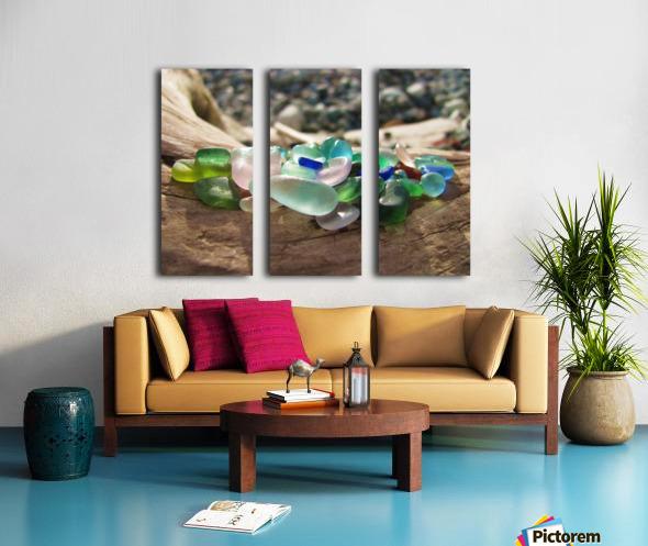 Sea Glass Colors Split Canvas print