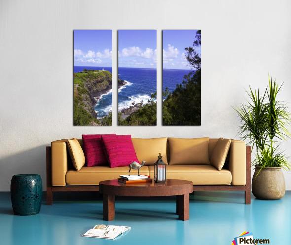 Spring at Kilauea Lighthouse on the Island of Kauai Split Canvas print