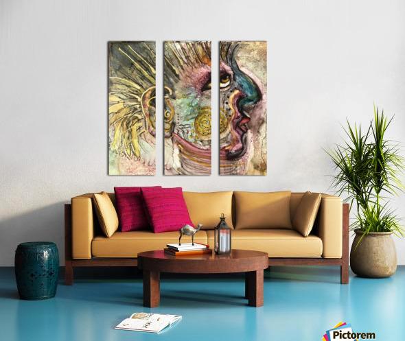 Shaman Split Canvas print
