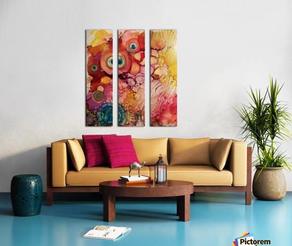 Joy Full Split Canvas print