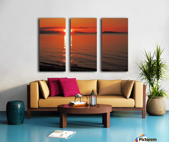 Qualicum Beach Sunset Split Canvas print