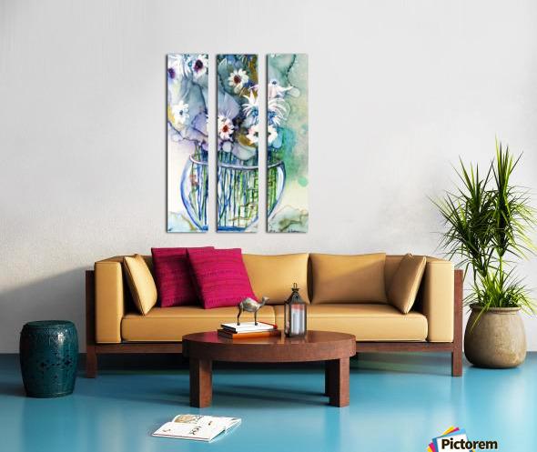 Blue Floral Split Canvas print