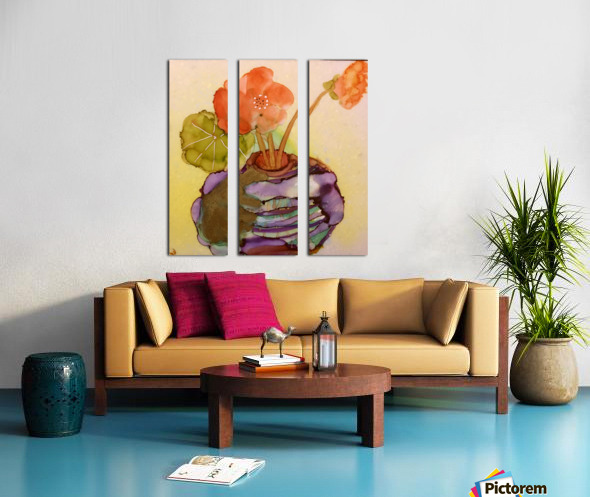 Orange Nasturiums Split Canvas print