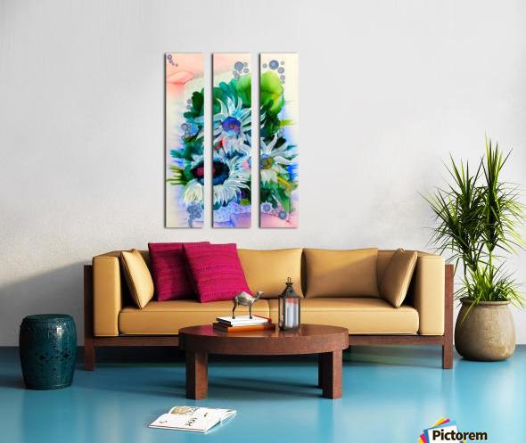 Floral Burst Split Canvas print