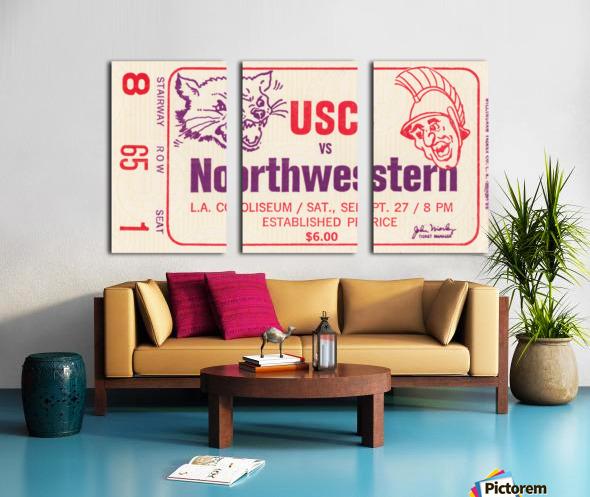 1969 USC Trojans vs. Northwestern Wildcats Split Canvas print