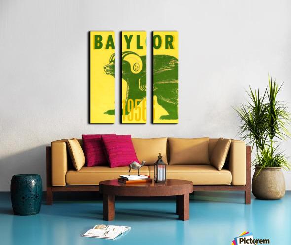 1956 Baylor Bears Vintage Football Art Remix Split Canvas print