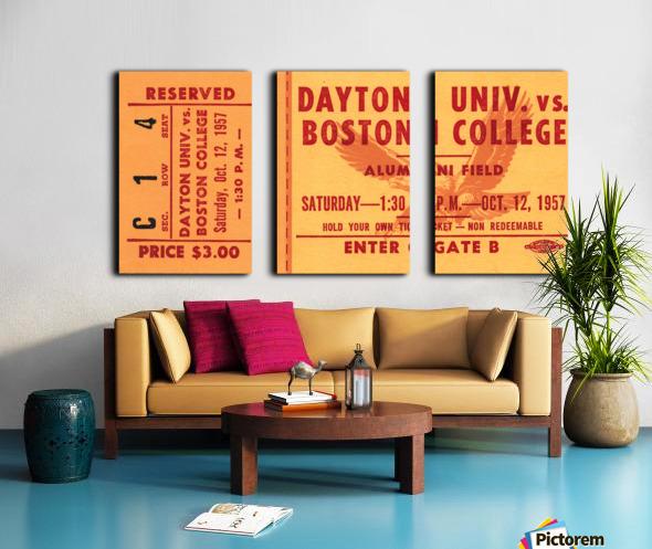 1957 Dayton Flyers vs. Boston College Eagles Split Canvas print