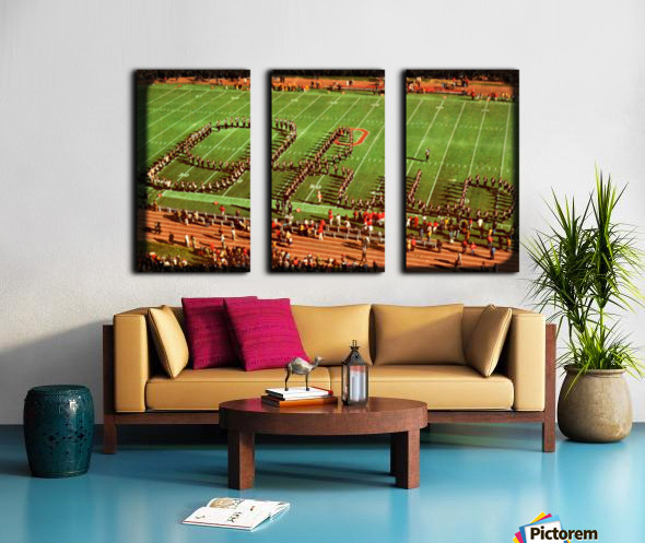 1978 Ohio State Marching Band Art Split Canvas print