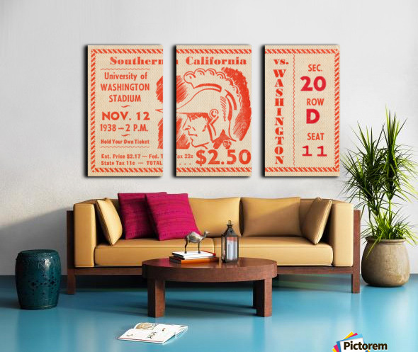 1938 USC Trojans vs. Washington Huskies Split Canvas print