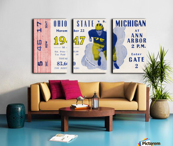 1947 Michigan Wolverines vs. Ohio State Buckeyes Split Canvas print