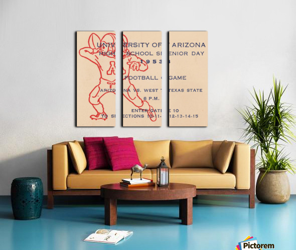1953 Arizona Wildcats vs. West Texas State  Split Canvas print
