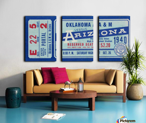 1940 Arizona Wildcats vs. Oklahoma A&M Aggies Split Canvas print