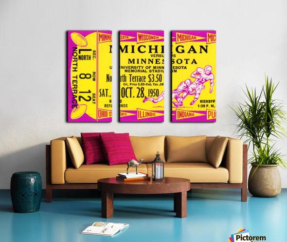 1950 Minnesota Golden Gophers vs. Michigan Wolverines Split Canvas print