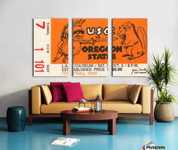 1970 USC Trojans vs. Oregon State Beavers Split Canvas print