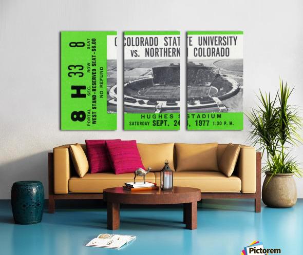 1977 Colorado State Rams vs. Northern Colorado Split Canvas print