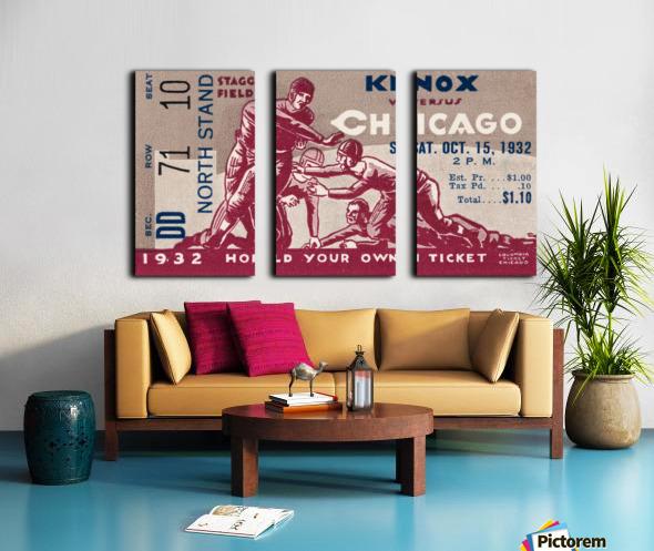 1932 Knox College vs. University of Chicago Split Canvas print
