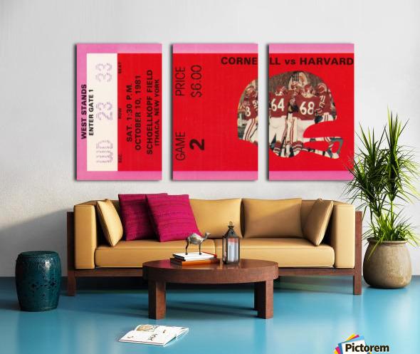 1981 Cornell Big Red vs. Harvard Crimson Split Canvas print