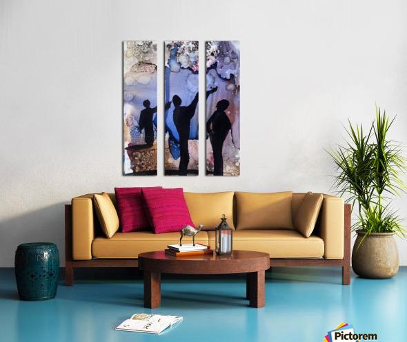 Is It Raining Split Canvas print