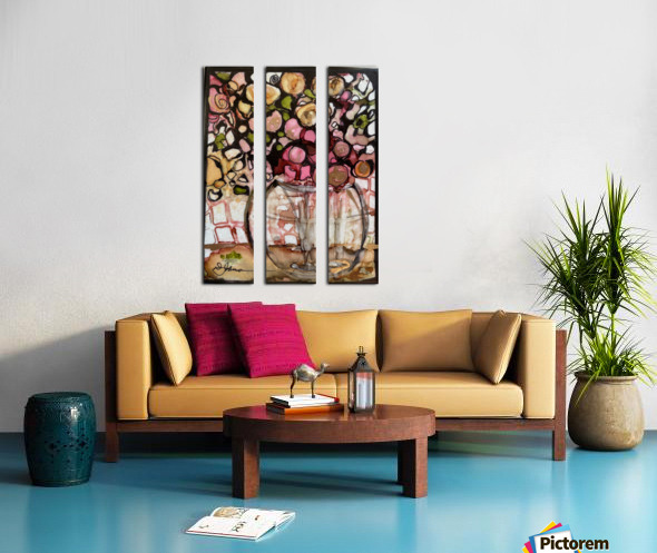 Floral Fun Split Canvas print
