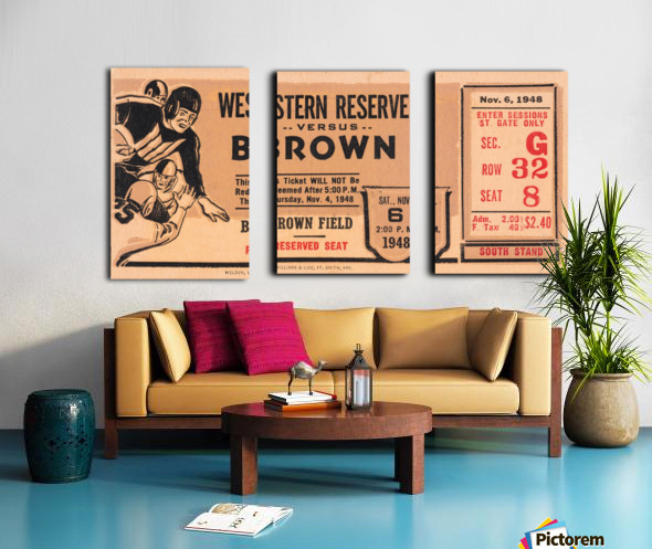 1948 Western Reserve Red Cats vs. Brown Bears Split Canvas print