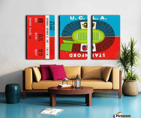 1967 UCLA Bruins vs. Stanford Indians Split Canvas print