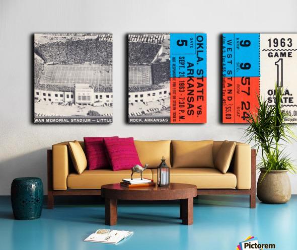 1963 Arkansas Razorbacks vs. Oklahoma State Cowboys Split Canvas print