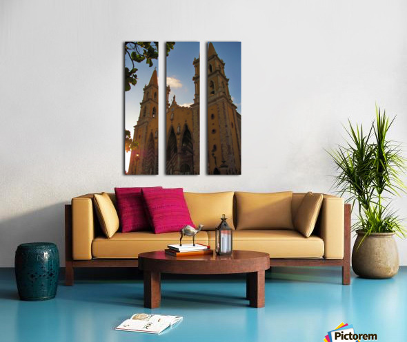 Catedral Basilica de Mazatlan Split Canvas print