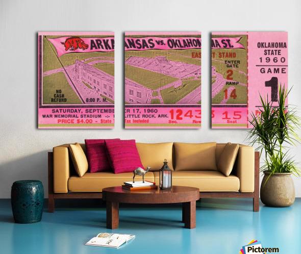 1960 Arkansas Razorbacks vs. Oklahoma State Cowboys Split Canvas print